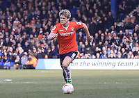 Luton Town midfielder Cameron McGeehan in action during the Sky Bet League 2 match between Luton Town and Crawley Town at Kenilworth Road, Luton, England on 12 March 2016. Photo by Liam Smith.