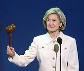 New York, NY - August 31, 2004 --  United States Senator Kay Bailey Hutchison (Republican of Texas) calls the third session of the 2004 Republican Convention to order in Madison Square Garden in New York, New York, on Tuesday, August 30, 2004..Credit: Ron Sachs / CNP.(RESTRICTION: No New York Metro or other Newspapers within a 75 mile radius of New York City)