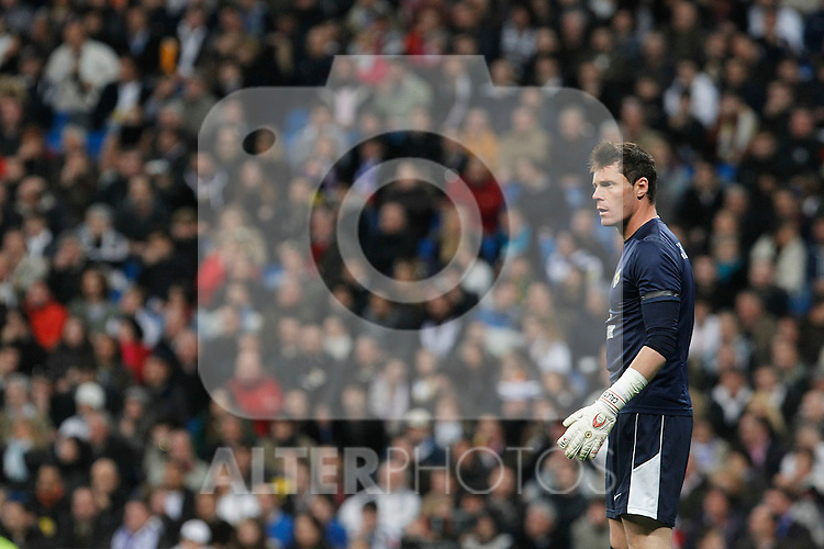 Hercules' Juan Jesus Calatayud during La Liga match.March 12,2011. (ALTERPHOTOS/Acero)