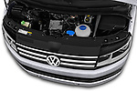 Car stock 2018 Volkswagen California Ocean 4 Door Passenger Van engine high angle detail view