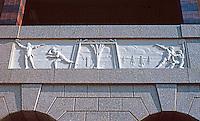 Ballparks: Arlington. TX. The Ballpark. Texas Themes bas relief from terra cotta frieze of Pension Bldg. in Washington.