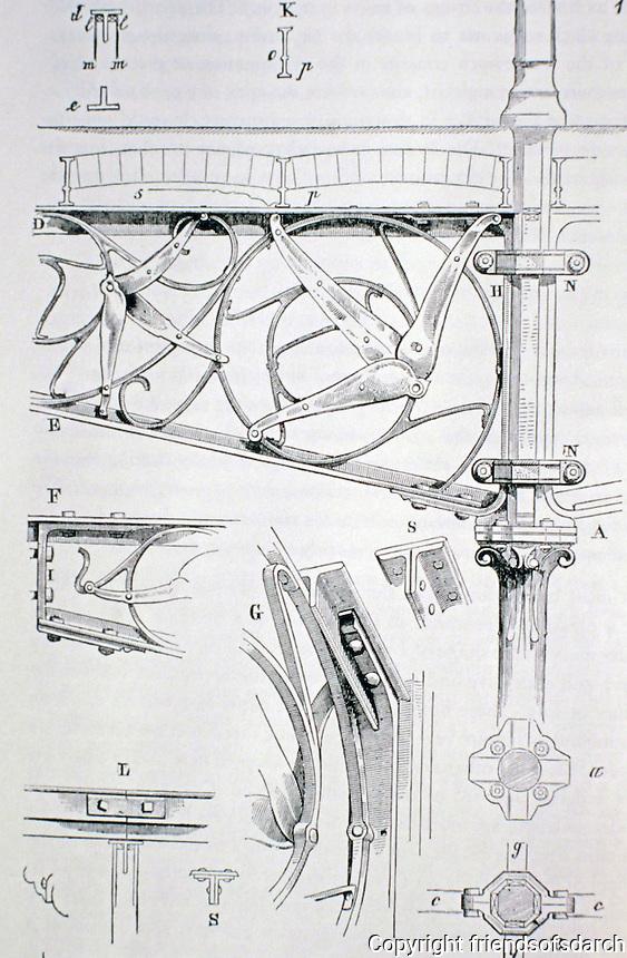Eugène Viollet-le Duc, proposal for a wrought iron bracket from Entretiens sur l'architecture, 1863-1872.