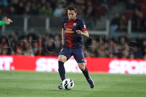 05.05.2013 Barcelona, Spain. Alva in action during the Spanish La Liga game between Barcelona and Real Betis from Nou Camp.