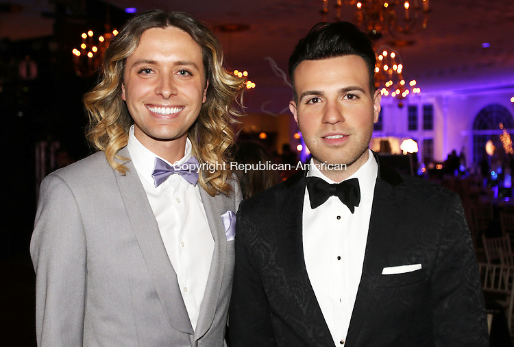SOUTHINGTON CT. 06 February 2016-020616SV21-From left, James Michael Murphy and Daniel Sanchez both of Watertown, Onyx Jewelry, attend the Saint Mary's Hospital Foundation 25th Annual Gala at the Aqua Turf Club in Southington Saturday.<br /> Steven Valenti Republican-American