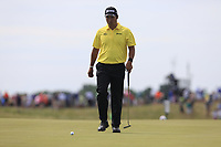 Hideki Matsuyama (JPN) walks onto the 6th green during Friday's Round 2 of the 117th U.S. Open Championship 2017 held at Erin Hills, Erin, Wisconsin, USA. 16th June 2017.<br /> Picture: Eoin Clarke | Golffile<br /> <br /> <br /> All photos usage must carry mandatory copyright credit (&copy; Golffile | Eoin Clarke)