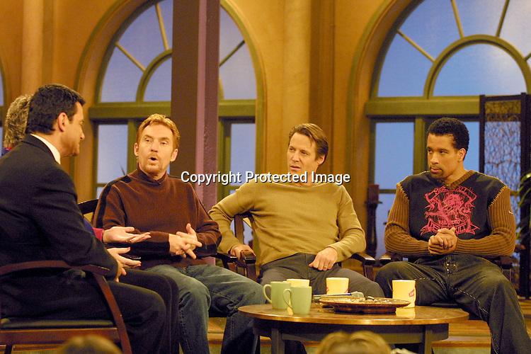 ©2002 KATHY HUTCHINS/ HUTCHINS PHOTO.THE OTHER HALF TAPING.BURBANK, CA.NOVEMBER 15, 2002..MATTHEW ASHFORD, DANNY BONADUCE AND DORIAN GREGORY
