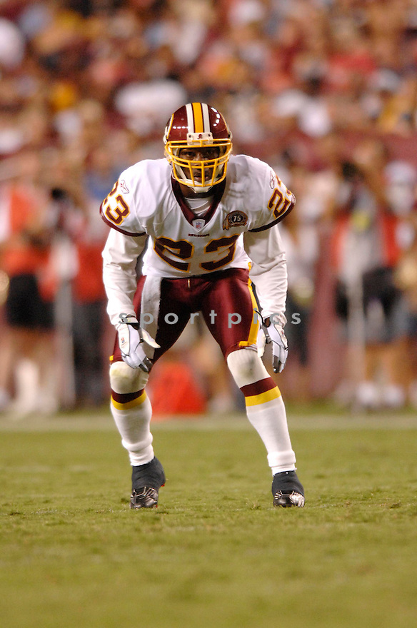 MARCUS MASON, of the Washington Redskins, in action during the Redskins game against the Pittsburgh Steelers in Washington DC on August 18, 2007.  The Steelers won the game 12-10............