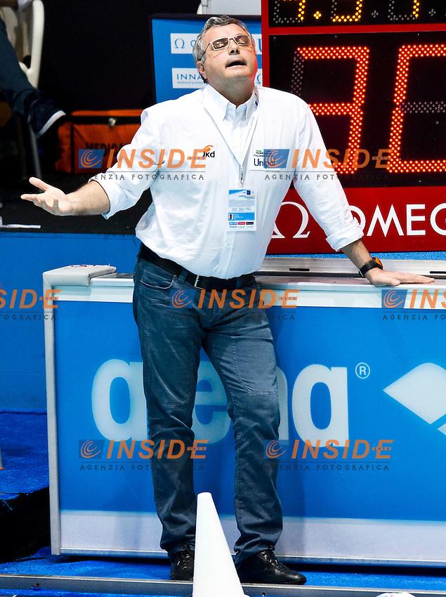 Eindhoven , Netherlands (NED) 23/1/2012.LEN European  Water Polo Championships 2012.Day 08 - Men.ITA (White) - GRE (Blue)..ITA.CAMPAGNA Alessandro..Photo Insidefoto / Giorgio Scala