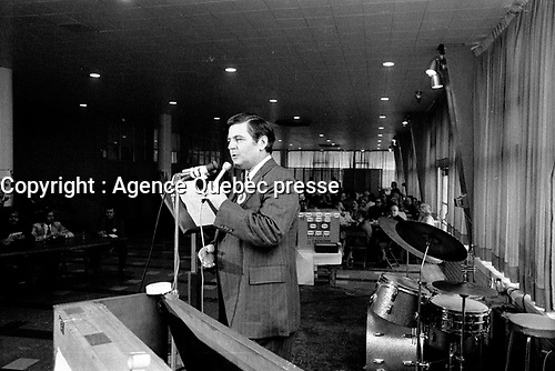 FILE PHOTO - Progressive Conservative Member of Parliament for Saint-Hyacinthe Claude Wagner in April 1973.<br /> <br /> PHOTO : Agence Quebec Presse - Alain Renaud<br /> <br /> <br /> <br /> <br /> <br /> Photo : AQP - Alain Renaud
