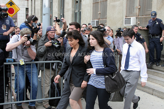 WWW.ACEPIXS.COM . . . . . ....May 19 2011, New York city....Anne Sinclair (wife) and Camille Strauss-Kahn daughter) leave a Manhattan court after terms had been agreed for bail for Dominique Strauss-Kahn, who has been held on sex charges.....Please byline: Curtis Means - ACEPIXS.COM....Ace Pictures, Inc:  ..(212) 243-8787 or (646) 679 0430..e-mail: picturedesk@acepixs.com..web: http://www.acepixs.com