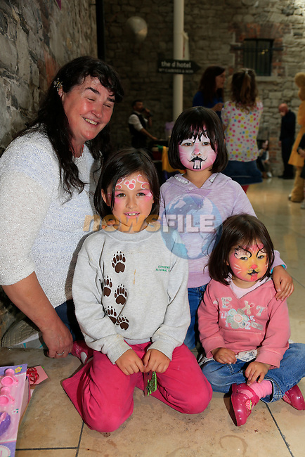 Chloe Kathleen and Issy, Ethna Nolan at the Scotch Hall fun Day.<br /> Picture: Fran Caffrey www.newsfile.ie