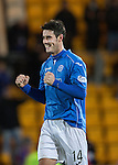 St Johnstone v Inverness Caledonian Thistle...20.12.14   SPFL<br /> Brian Graham celebrates<br /> Picture by Graeme Hart.<br /> Copyright Perthshire Picture Agency<br /> Tel: 01738 623350  Mobile: 07990 594431