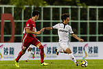 Chin Lung Cheng (R) of Dreams FC fights for the ball with Sean Ka Keung Tse (L)  of Wofoo Tai Po during the Dreams FC vs Wofoo Tai Po match of the week one Premier League match at the Aberdeen Sports Ground on 26 August 2017 in Hong Kong, China. Photo by Yu Chun Christopher Wong / Power Sport Images