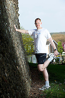 15 APR 2011 - COLCHESTER, GBR - Entrepreneur and IT Consultant Sascha Cutura who runs Colchester Sightrunning which takes runners round the sights of the town of Colchester in Essex .(PHOTO (C) NIGEL FARROW)