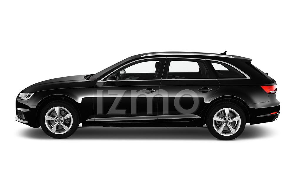 Car driver side profile view of a 2019 Audi A4-Avant Design 5 Door Wagon
