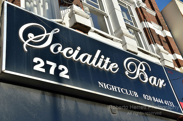 Socialite Bar nightclub in Muswell Hill, London, UK.