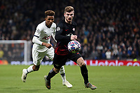 Emil Forsberg of RB Leipzig  and Gedson Fernandes of Tottenham Hotspur during Tottenham Hotspur vs RB Leipzig, UEFA Champions League Football at Tottenham Hotspur Stadium on 19th February 2020