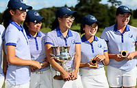 Auckland celebrate winning the final of the 2017 Toro Interprovincial Championship against Canterbury. Day Four of the Toro Interprovincial Women's Championship, Sherwood Golf Club, Whangarei,  New Zealand. Friday 8 December 2017. Photo: Simon Watts/www.bwmedia.co.nz