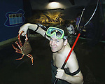 MOONEY GOES WILD....<br />RTE wildman Derek Mooney of 'Mooney Goes Wild' fame went fishing for crabs yesterday when he attended the launch of the new Dingle Oceanworld Book in Dingle Co. kerry yesterday. The book features pictures and articles of fish life in Irish waters and on display in the aquarium.<br />Picture by Don MacMonagle
