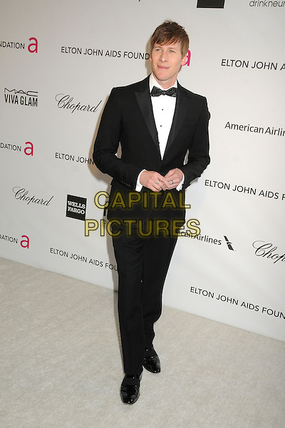 Dustin Lance Black.21st Annual Elton John Academy Awards Viewing Party held at West Hollywood Park, West Hollywood, California, USA..February 24th, 2013.oscars full length white black bow tie tuxedo .CAP/ADM/BP.©Byron Purvis/AdMedia/Capital Pictures.