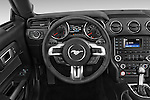 Car pictures of steering wheel view of a 2017 Ford Mustang V6 2 Door Coupe Steering Wheel