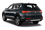 Car pictures of rear three quarter view of 2019 Seat Tarraco Xcellence 5 Door SUV Angular Rear