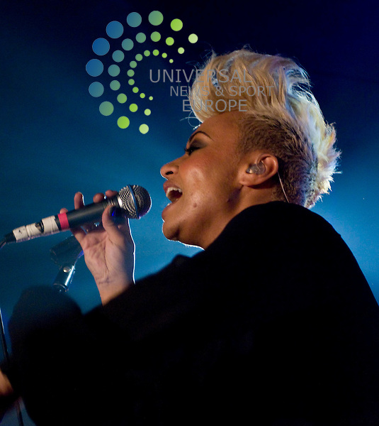Emili Sande, Scottish RnB singer/songwriter, performs to a sold out Oran Mor in Glasgow, as part of her UK tour to promote her album, Our Version of Events. Picture: Wullie Marr/ Universal News And Sport (Scotland) 1/11/2011