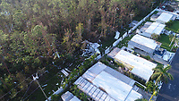 2017 FPL Hurricane Irma damage in Collier County, Fla. on September 14, 2017.