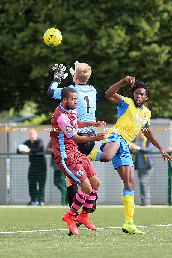 during Haringey Borough vs Corinthian Casuals, BetVictor League Premier Division Football at Coles Park Stadium on 10th August 2019