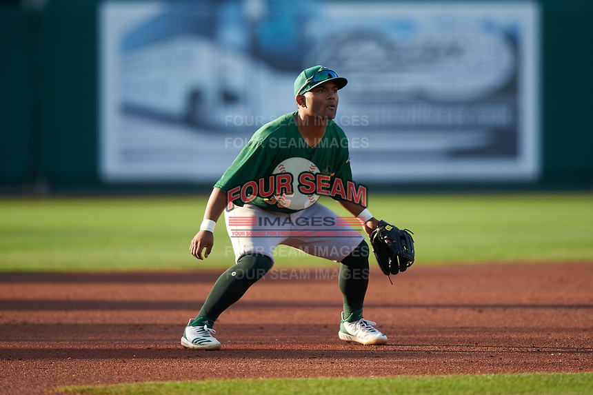 Beloit Snappers third baseman Cobie Vance (35) during a Midwest League game against the Lansing Lugnuts at Cooley Law School Stadium on May 4, 2019 in Lansing, Michigan. Beloit defeated Lansing 2-1. (Zachary Lucy/Four Seam Images)