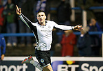 Greenock Morton v St Johnstone...27.10.15  League Cup Quarter Final, Cappielow...<br /> Michael O'Halloran celebrates his goal<br /> Picture by Graeme Hart.<br /> Copyright Perthshire Picture Agency<br /> Tel: 01738 623350  Mobile: 07990 594431
