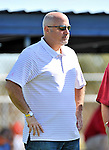 19 February 2011: Washington Nationals' General Manager Mike Rizzo watches drills during Spring Training at the Carl Barger Baseball Complex in Viera, Florida. Mandatory Credit: Ed Wolfstein Photo