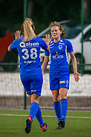 20190823 - OUD HEVERLEE BELGIUM : KRC Genk's Jarne Teulings  pictured celebrating her goal during the female soccer game between the OHL Ladies vs KRC Genk Ladies, the first game for both teams in the Belgian Women's Super League , Friday 23rd  August 2019 at the OHL Jeugdcomplex , Belgium . PHOTO SPORTPIX.BE | SEVIL OKTEM