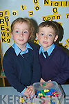 TWINS: Twins Organ and Grace O'Neill at Ballingford NS on Wednesday for their first day.... ....