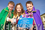 Ruairi Doyle, Oisin, Ava Burke, Niamh Cinn Oir and Richard Wallace, King of Ti?r na nO?g, Fossa National School,  who were part of the cast of the crew that won the depicting history in film category of the FIS film making in schools project..
