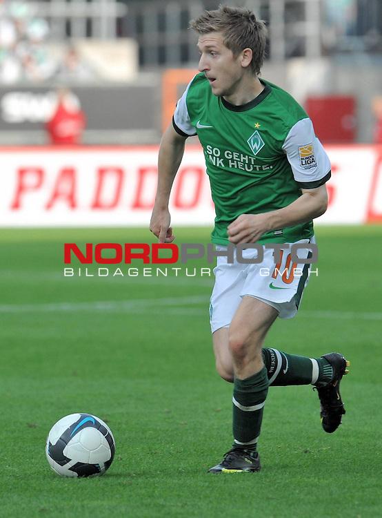 FBL 09/10  07. Spieltag Hinrunde / Weser Stadion<br /> Werder Bremen - Mainz05 3:0<br /> <br /> Marko Marin ( Bremen GER #10 )<br /> <br /> Foto &copy; nph ( nordphoto )