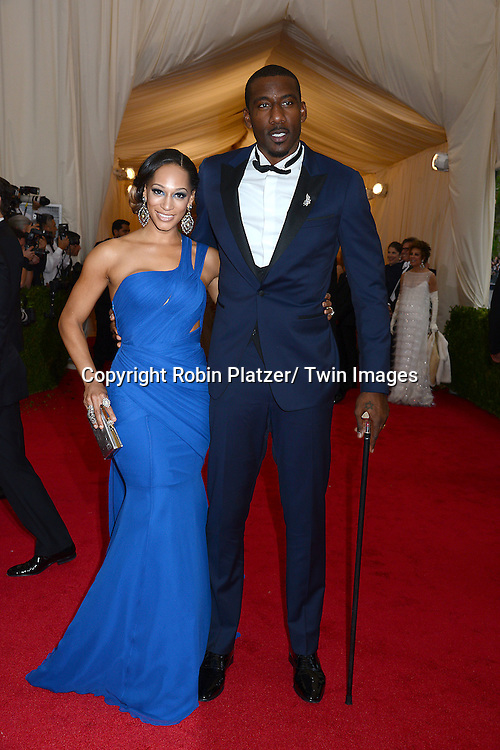 Alexis and Amar'e Stoudemire attend the Costume Institute Benefit on May 5, 2014 at the Metropolitan Museum of Art in New York City, NY, USA. The gala celebrated the opening of Charles James: Beyond Fashion and the new Anna Wintour Costume Center.