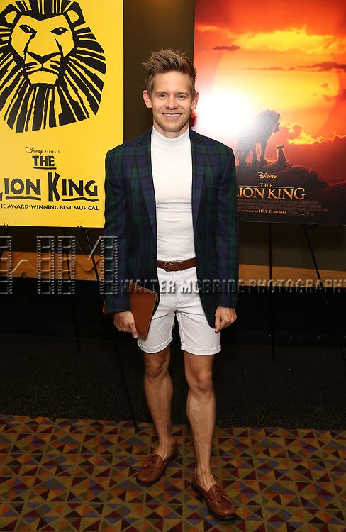 """Andrew Keenan-Bolger attends the Broadway screening of the Motion Picture Release of """"The Lion King"""" at AMC Empire 25 on July 15, 2019 in New York City."""