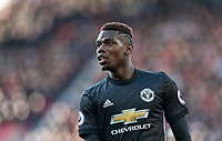 Paul Pogba of Man Utd during the Premier League match between Stoke City and Manchester United at the Britannia Stadium, Stoke-on-Trent, England on 9 September 2017. Photo by Andy Rowland.