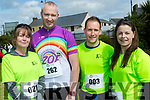 Athletic<br /> ----------<br /> L-R Caroline Comyns, David O'Sullivan, Aiden Guinane with Mary O'Sullivan pictured before the start of the Ballybunion 10k and half marathon last Saturday.