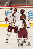 Haley Skarupa (BC - 22), Dana Trivigno (BC - 8), Kristyn Capizzano (BC - 7) - The Boston College Eagles defeated the visiting UConn Huskies 4-0 on Friday, October 30, 2015, at Kelley Rink in Conte Forum in Chestnut Hill, Massachusetts.