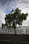An exterior view of the stadium before Coleraine played Spartak Subotica of Serbia in a Europa League Qualifying First Round second leg at the Showgrounds, Coleraine. The hosts from Northern Ireland had drawn the away leg 1-1 the previous week, however, the visitors won the return leg 2-0 to progress to face Sparta Prague in the next round, watched by a sell-out crowd of 1700.