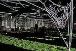 DRAGGEDCREATIVE Choreographers, NOOS STUDIO et AC3 STUDIODRAGGED (Performance chorégraphique)Axelle Lagier, Julien Gaillac, Pierre Dagba, Jules Gorget & AC3 STUDIO présentent DRAGGED, une performance in situ alliant mouvement et espace. En scène, un homme et un animal sont reliés l'un à l'autre. Les fluctuations du lien qui les unit donnent forme à la performance. Une œuvre tissée et un dispositif LED structurent l'espace. Le public est immergé au cœur de ce ring où un combat entre l'Homme et l'Animal se joue, sous les fenêtres de la Bibliothèque Historique de la Ville de Paris.Cadre : Nuit Blanche 2015Lieu : Jardin de l'Hôtel LamoignonVille : ParisDate : 03/10/2015© Laurent Paillier / photosdedanse.com