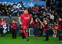 Scarlets' Samson Lee takes to the field <br /> <br /> Photographer Ashley Crowden/CameraSport<br /> <br /> Guinness Pro14 Round 6 - Ospreys v Scarlets - Saturday 7th October 2017 - Liberty Stadium - Swansea<br /> <br /> World Copyright &copy; 2017 CameraSport. All rights reserved. 43 Linden Ave. Countesthorpe. Leicester. England. LE8 5PG - Tel: +44 (0) 116 277 4147 - admin@camerasport.com - www.camerasport.com