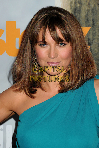 "Lucy Lawless.""Spartacus: Vengeance"" Premiere Screening held at Arclight Cinemas, Hollywood, California, USA..January 18th, 2012.headshot portrait blue teal one shoulder  .CAP/ADM/BP.©Byron Purvis/AdMedia/Capital Pictures."
