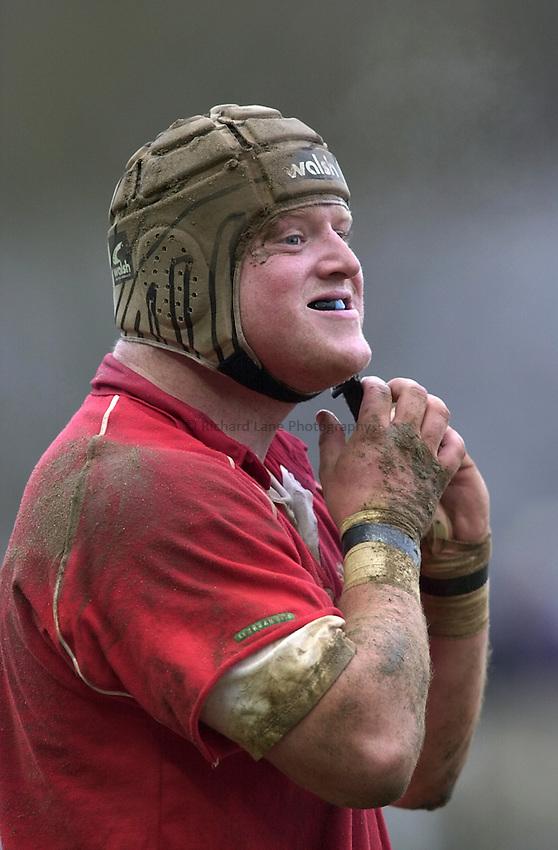 Photo. Richard Lane. .Wales U21 v England U21 at Sardis Road, Pontypridd, Wales. 2/2/2001.Saul Nelson.