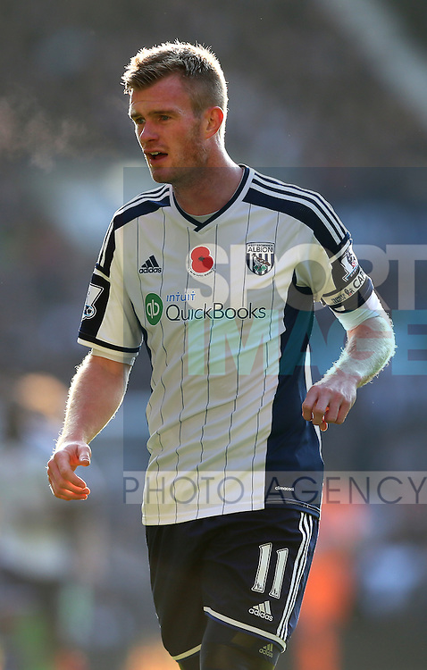 Chris Brunt of West Bromwich Albion  - Barclays Premier League - WBA vs Newcastle Utd - Hawthorns Stadium - West Bromwich - England - 9th November 2014  - Picture Simon Bellis/Sportimage
