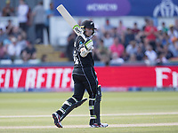 Tom Latham (New Zealand) acknowledges his half century during England vs New Zealand, ICC World Cup Cricket at The Riverside Ground on 3rd July 2019