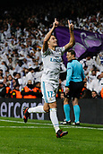 6th December 2017, Santiago Bernabeu, Madrid, Spain; UEFA Champions League football, Real Madrid versus Dortmund; Lucas Vaazquez Iglesias (17) Real Madrid celebrates  after scoring his team´s winning goal for 3-2