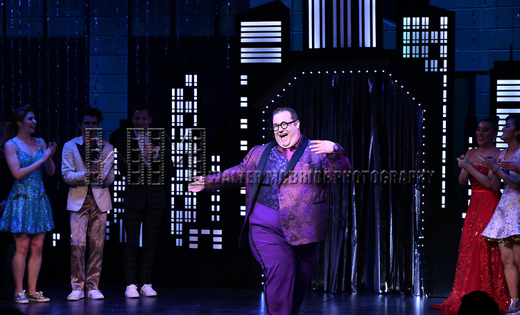"""Josh Lamon during the Broadway Opening Night Curtain Call of """"The Prom"""" at The Longacre Theatre on November 15, 2018 in New York City."""